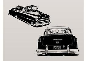 Carros vintage vetor