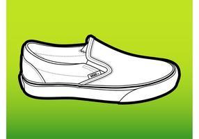 Vans shoe vetor