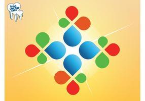 Gráficos coloridos do logotipo vetor