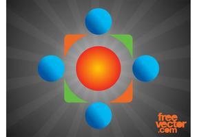 Modelo de logotipo corporativo vetor