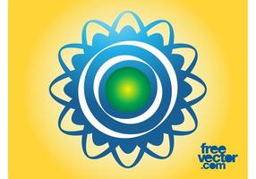 Molde de logotipo floral vetor