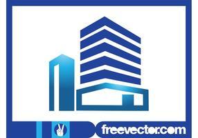 Modelo de logotipo imobiliário vetor