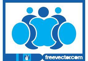 Logotipo de pessoas estilizadas vetor