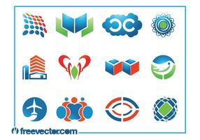 Conjunto de modelos de logotipo vetor