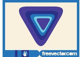 Modelo de logotipo do triângulo vetor