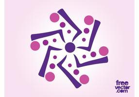 Logo floral abstrato