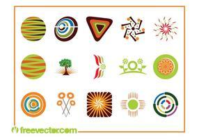 Pacote de modelos de logotipo vetor