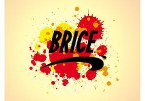 Brice Logo E Splatter vetor