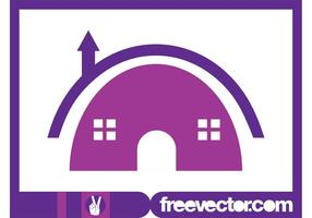 Modelo do logotipo da casa vetor