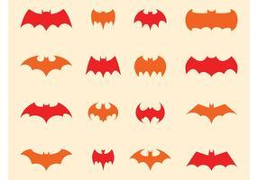 Conjunto do logotipo do batman vetor