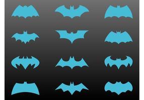 Conjunto logos de batman vetor