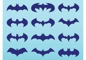 Pacote logotipo Batman vetor