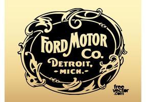 Logotipo antigo da Ford Motor Company vetor