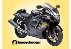 Motocicleta suzuki hayabusa vetor