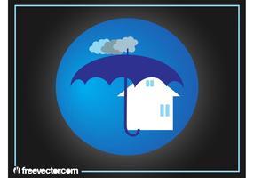 Logotipo do seguro imobiliário vetor