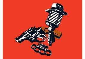 Projeto Retro Gangster vetor