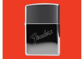 Isqueiro Zippo Com Logotipo Fender vetor