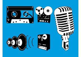 Gráficos de equipamentos de áudio vetor