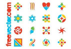 Modelos coloridos do logotipo