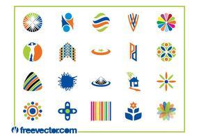 Gráficos coloridos de modelos de logotipo vetor