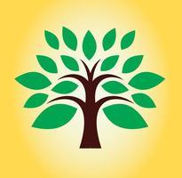Design de logotipo de árvore vetor