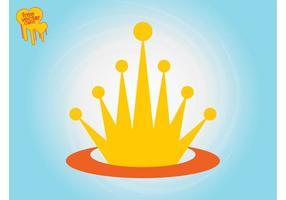 Modelo de logotipo da coroa vetor