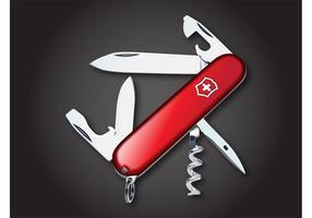 Vetor da faca do exército suíço