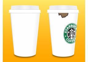 Vetor de copos de café Starbucks