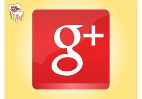 Gráficos de ícones do google plus vetor
