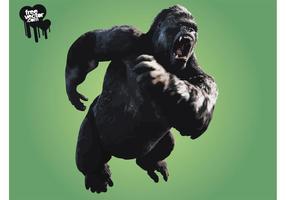 King Kong irritado vetor