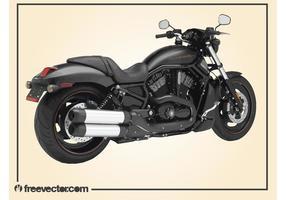 Motocicleta harley davidson preta vetor
