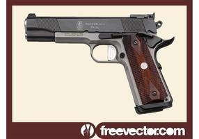 Pistola Smith Wesson vetor