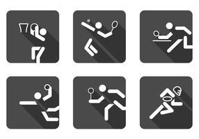 Conjunto de vetores de ícones de esportes de bola