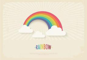 Vetor retro do fundo do arco-íris