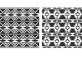Padrões vetoriais nativos do Navajo vetor