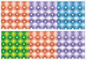 Padrões de vetores de diamante brilhante sem costura