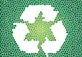Reciclagem De Mosaico Vector