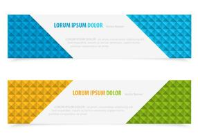 Bright Block Vector Banners