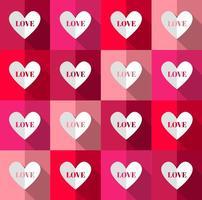 Vetor de padrão de corações brilhantes