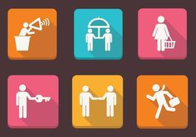 Pacote de vetores dos ícones das pessoas de negócios II