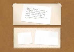 Antigo conjunto de vetores de papel vintage antigo