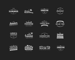 Vetores do emblema de verão vintage