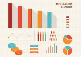 Conjunto de vetores de elementos infográfico