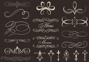 Vetores de ornamento caligráfico