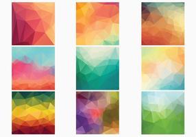 Coleção de vetores de fundos geométricos poligonais