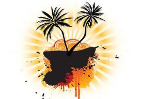 Verão Palm Tree Background Vector