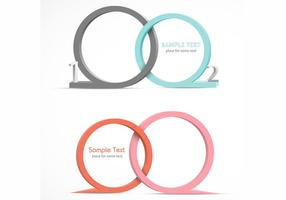 3D Speech Bubble Vector