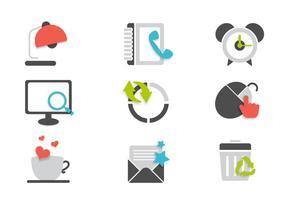 Conjunto de vetores de ícones de escritório