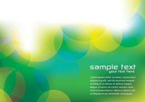 Green Bokeh Background Vector