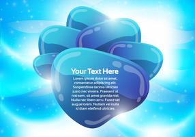 Blue Abstract Bubble Background Vector